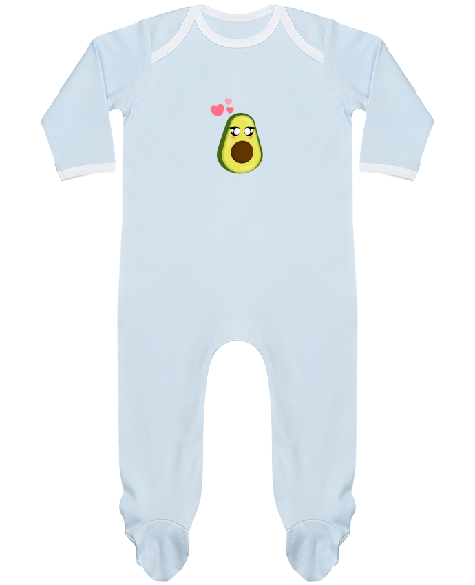 Pyjama Bébé Manches Longues Contrasté Avocat par moonlight_miu