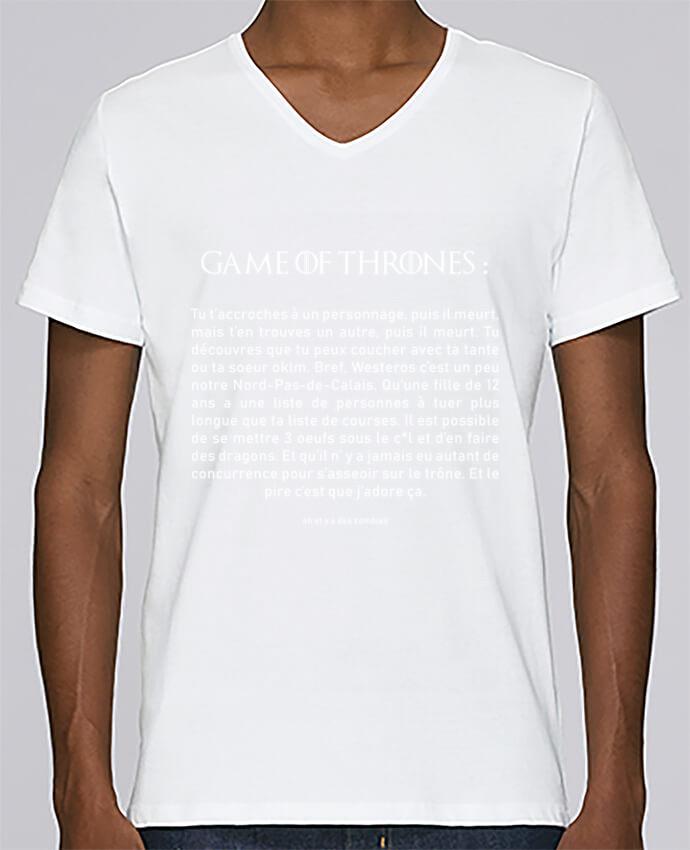 T-shirt Col V Homme Stanley Relaxes Résumé de Game of Thrones par tunetoo
