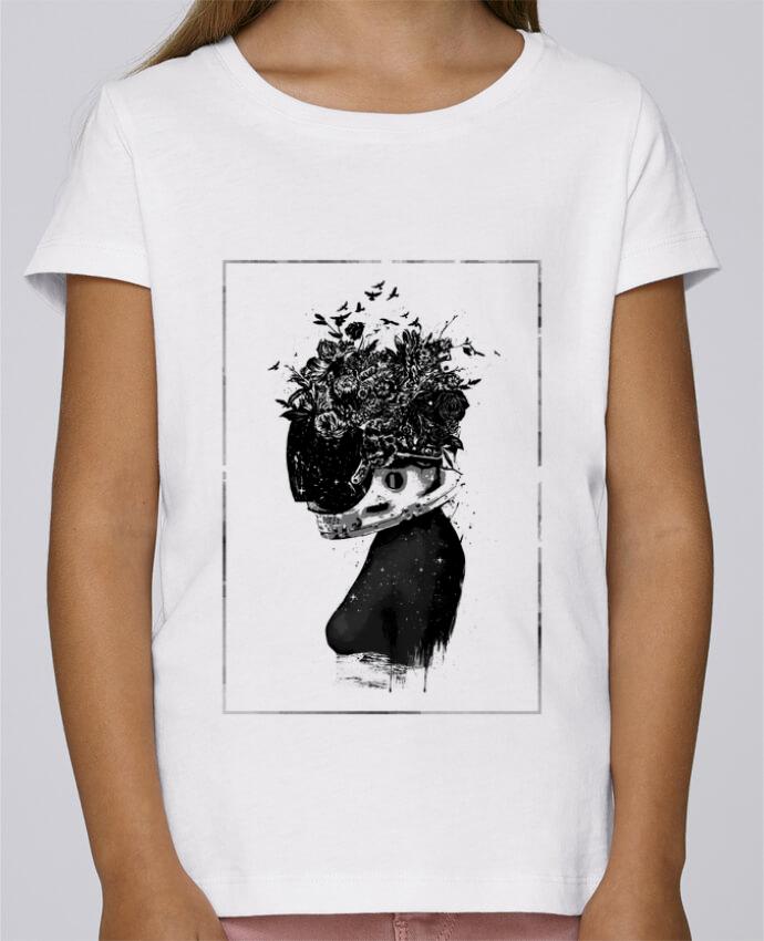 d1e4e6d9c338c T-shirt Fille Mini Stella Draws Hybrid girl par Balàzs Solti