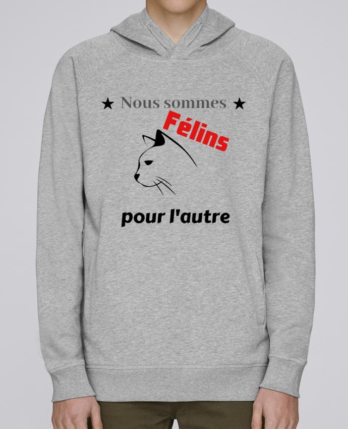 ef0859174 Sweat Capuche Homme Stanley Base Félins par Bouh