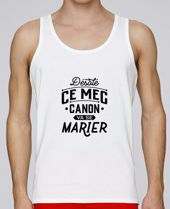 Débardeur Bio Homme Stanley Runs ce mec canon va se marier evg par Original t-shirt 100% coton bio