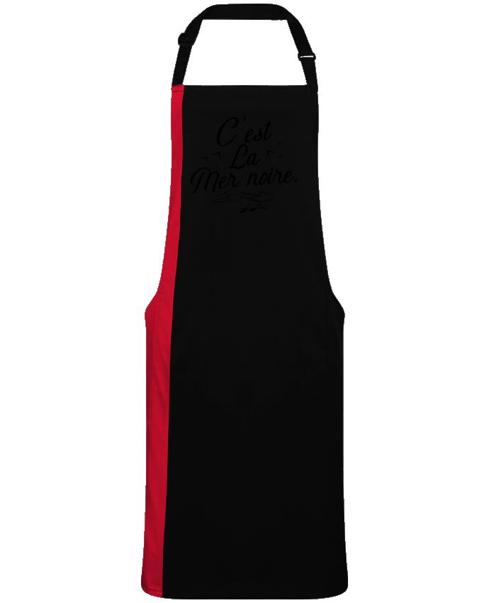 Tablier Long Bicolore C'est la mer noire par  Original t-shirt