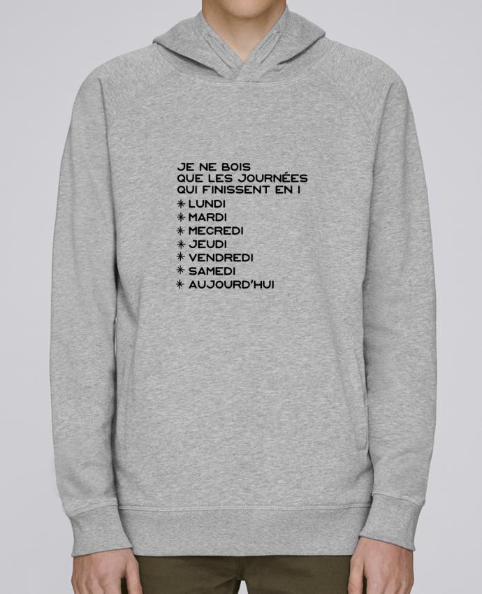 Sweat Capuche Homme Stanley Base Les journées en i cadeau par Original t-shirt