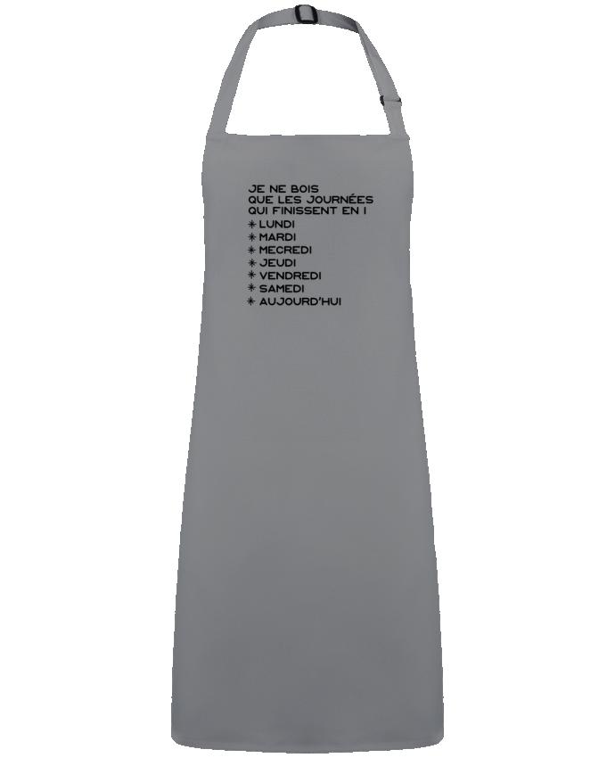 Tablier Sans Poche Les journées en i cadeau par  Original t-shirt