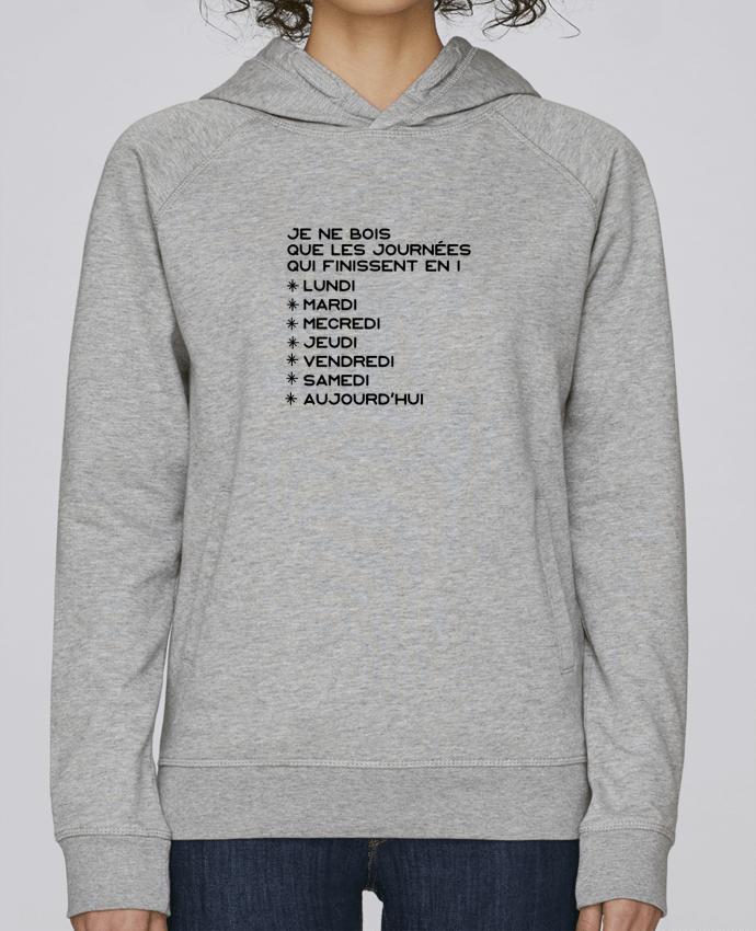 Sweat Capuche Femme Stanley Base Les journées en i cadeau par Original t-shirt