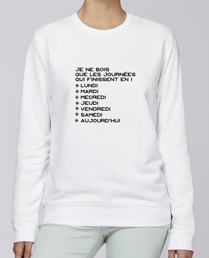 Sweat Col rond Unisexe Stanley Stella Rise Les journées en i cadeau par Original t-shirt