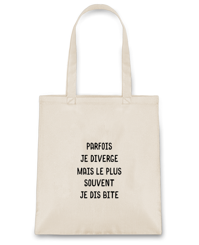 Sac en Toile Coton Parfois je diverge cadeau par Original t-shirt