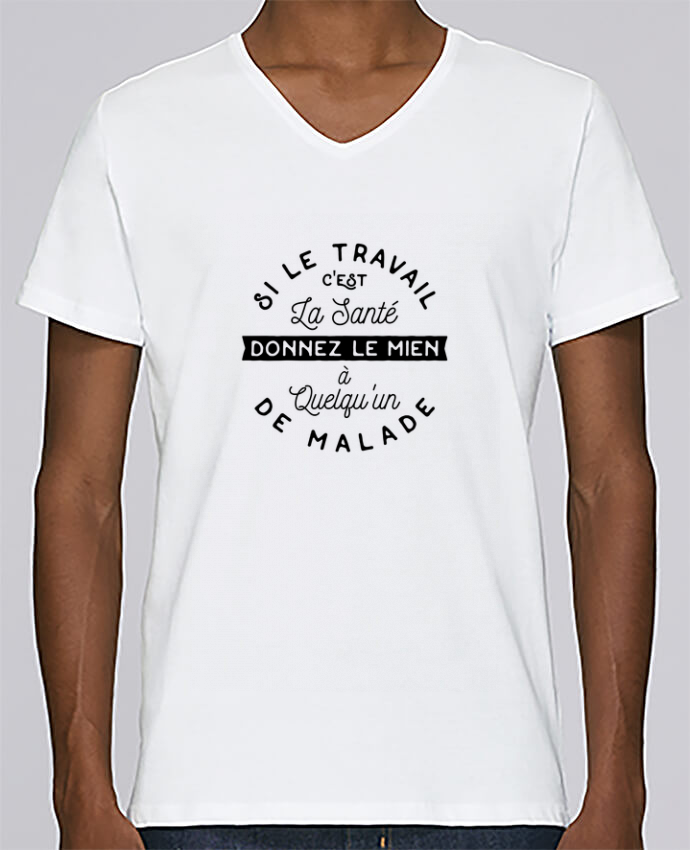 T-shirt Col V Homme Stanley Relaxes Le travail c