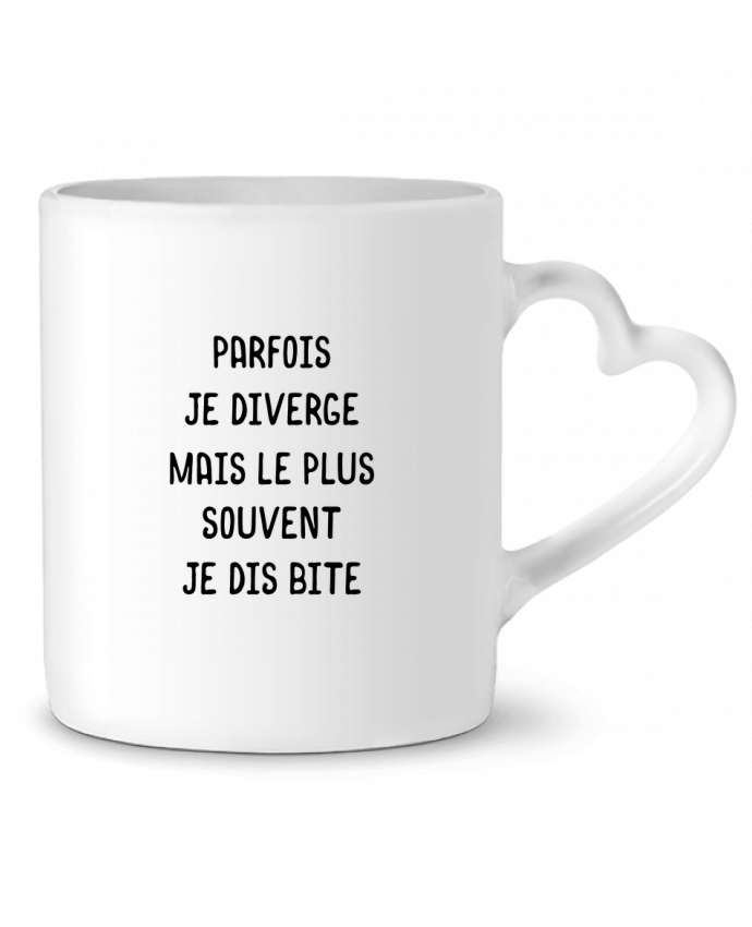 Mug coeur Parfois je diverge cadeau par Original t-shirt