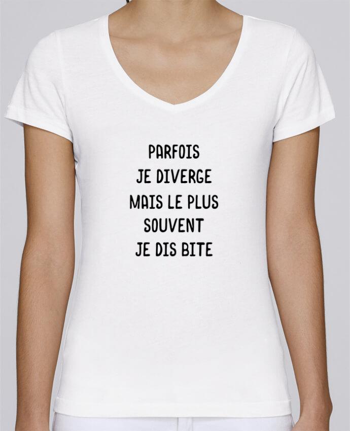 T-shirt Femme Col V Stella Chooses Parfois je diverge cadeau par Original t-shirt