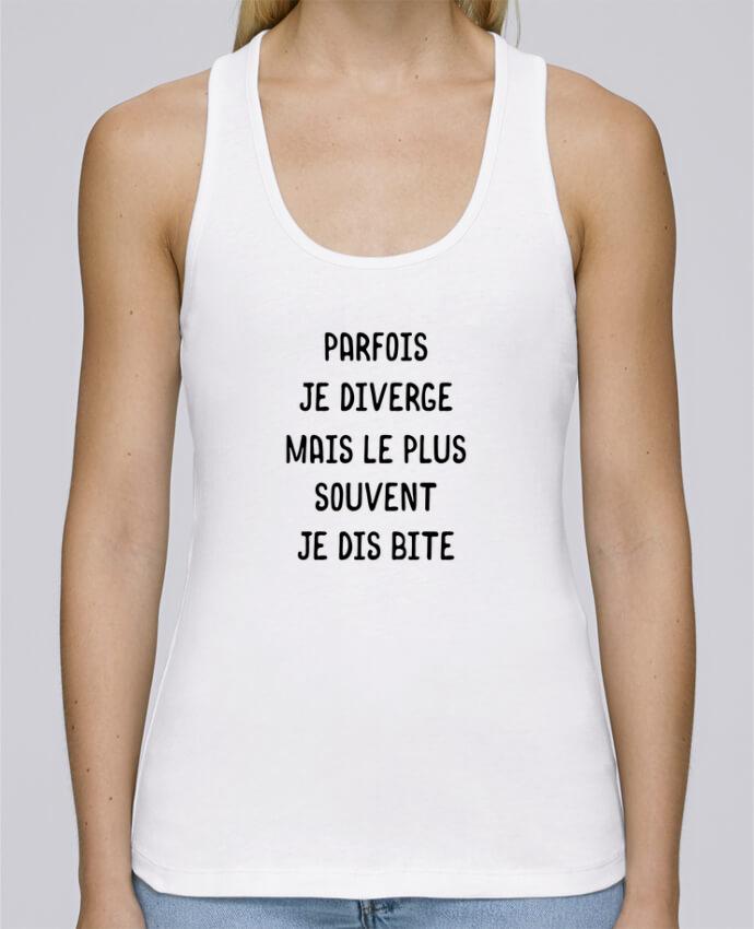 Débardeur bio femme Stella Dreams Parfois je diverge cadeau par Original t-shirt en coton Bio