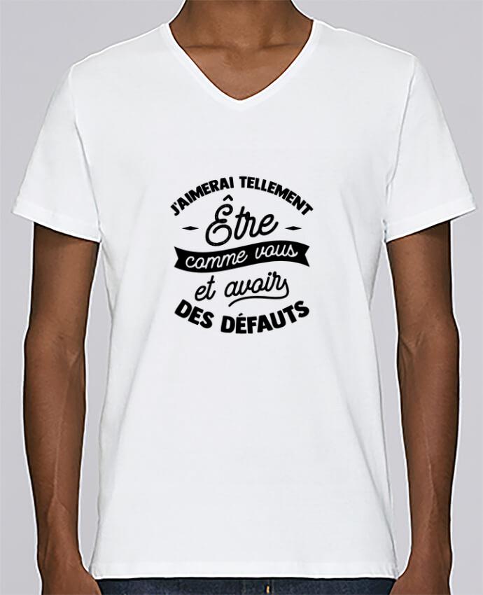 T-shirt Col V Homme Stanley Relaxes J'aimerai être comme vous cadeau par Original t-shirt