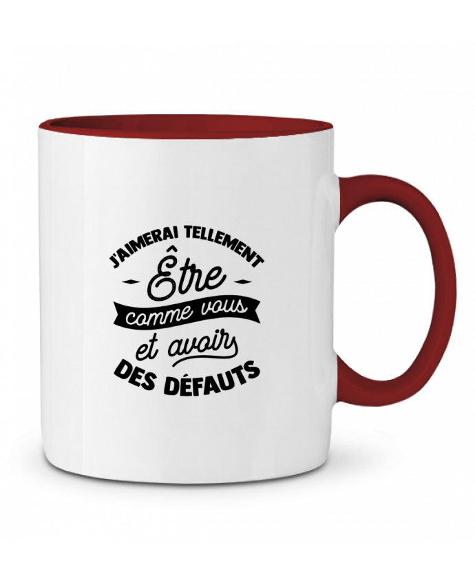 Mug en Céramique Bicolore J'aimerai être comme vous cadeau Original t-shirt