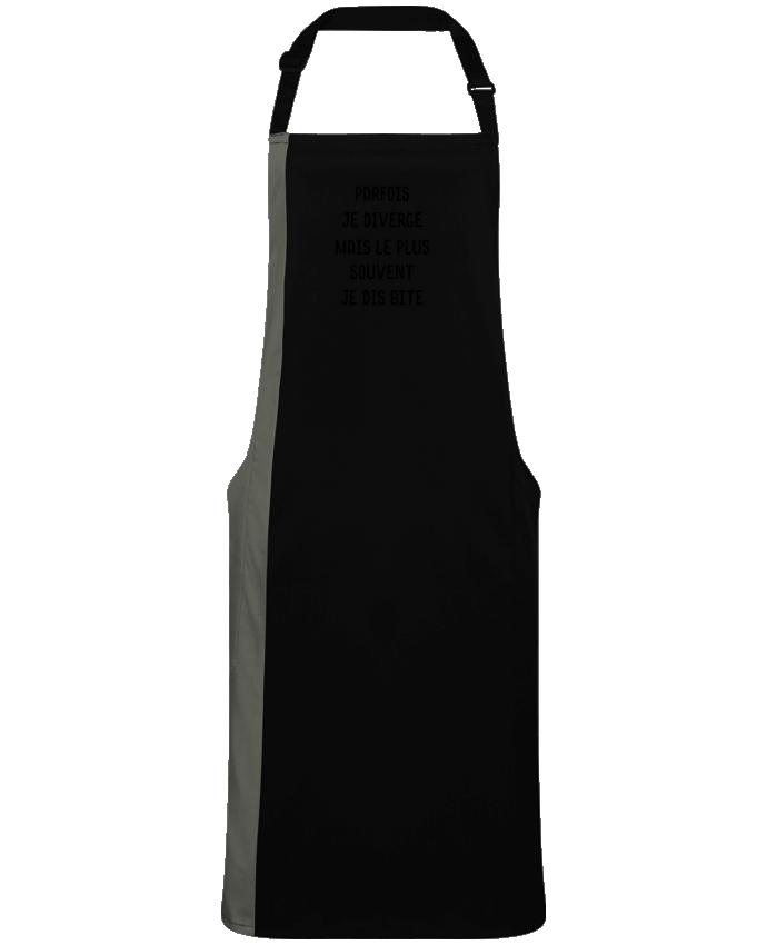 Tablier bicolore Parfois je diverge cadeau par  Original t-shirt