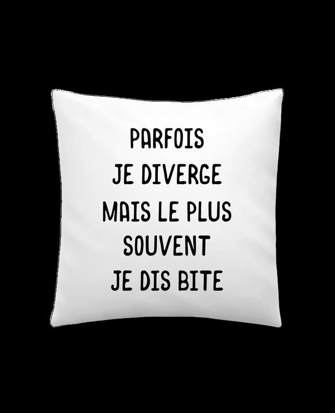 Coussin Synthétique Doux 41 x 41 cm Parfois je diverge cadeau par Original t-shirt