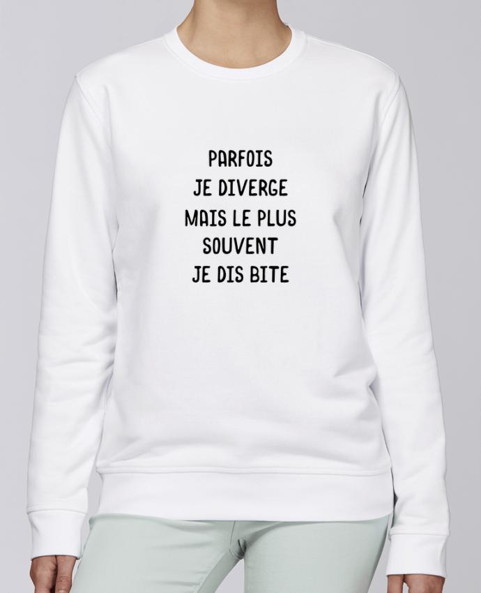Sweat Col rond Unisexe Stanley Stella Rise Parfois je diverge cadeau par Original t-shirt