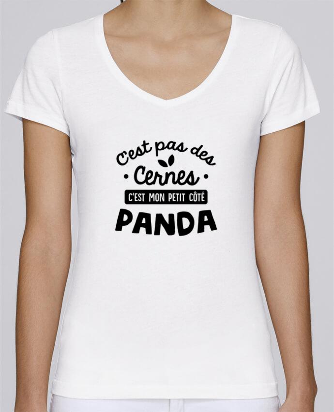 T-shirt Femme Col V Stella Chooses C'est pas des cernes cadeau par Original t-shirt