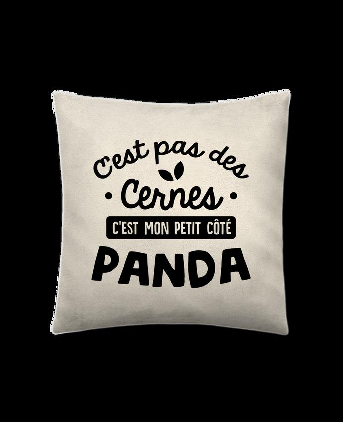 Coussin Toucher Peau de Pêche 41 x 41 cm C'est pas des cernes cadeau par Original t-shirt