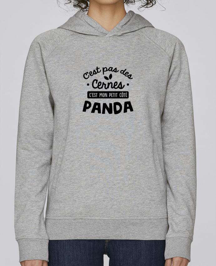 Sweat Capuche Femme Stanley Base C'est pas des cernes cadeau par Original t-shirt