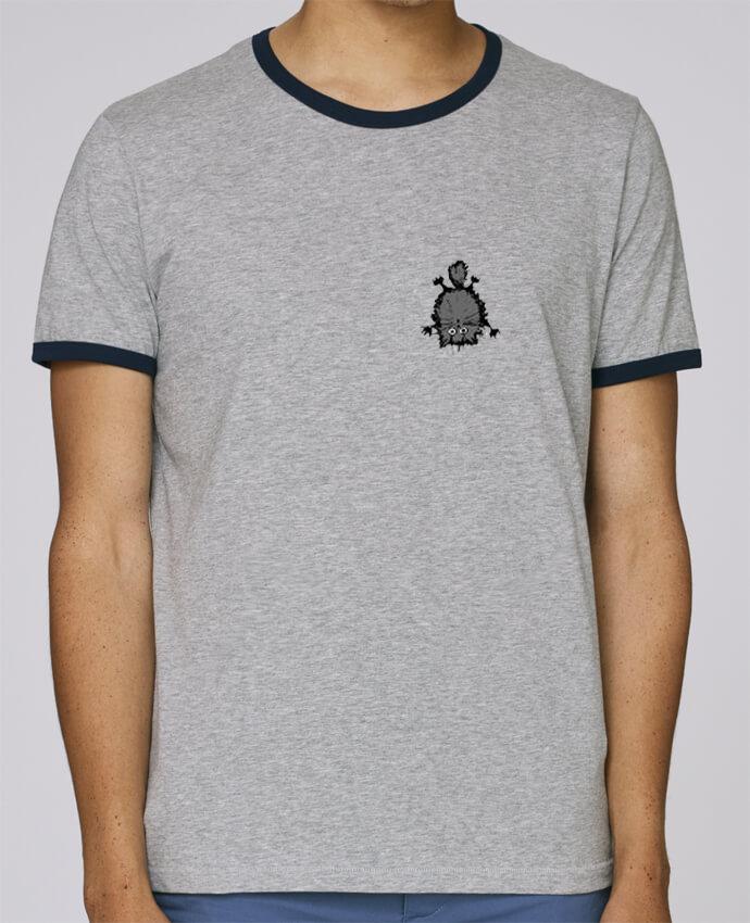 T-Shirt Ringer Contrasté Homme Stanley Holds Chat pour femme par caroline.c
