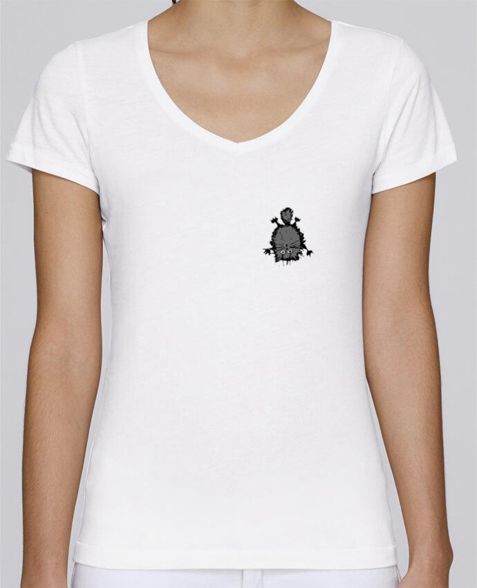 T-shirt Femme Col V Stella Chooses Chat par caroline.c