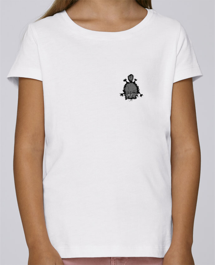 T-shirt Fille Mini Stella Draws Chat par caroline.c