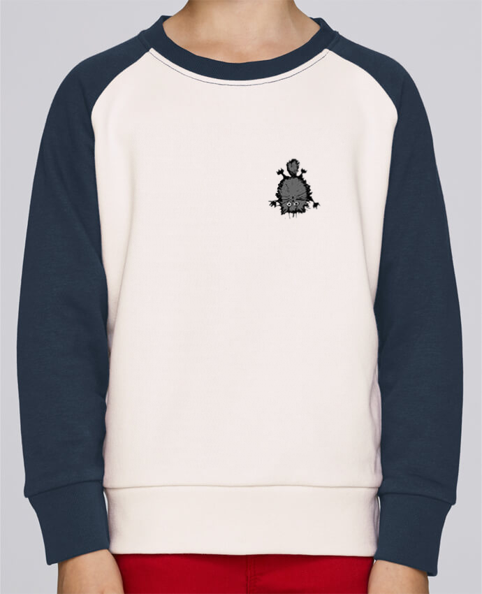 Sweat Shirt Col Rond Enfant Stanley Mini Contrast Chat par caroline.c