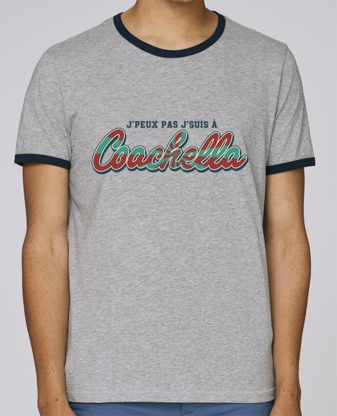 T-Shirt Ringer Contrasté Homme Stanley Holds J'peux pas j'suis à Coachella pour femme par tunetoo