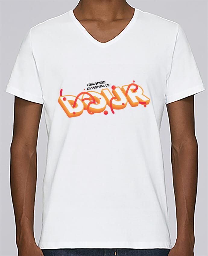 T-shirt Col V Homme Stanley Relaxes Finir sourd au festival de DOUR par tunetoo