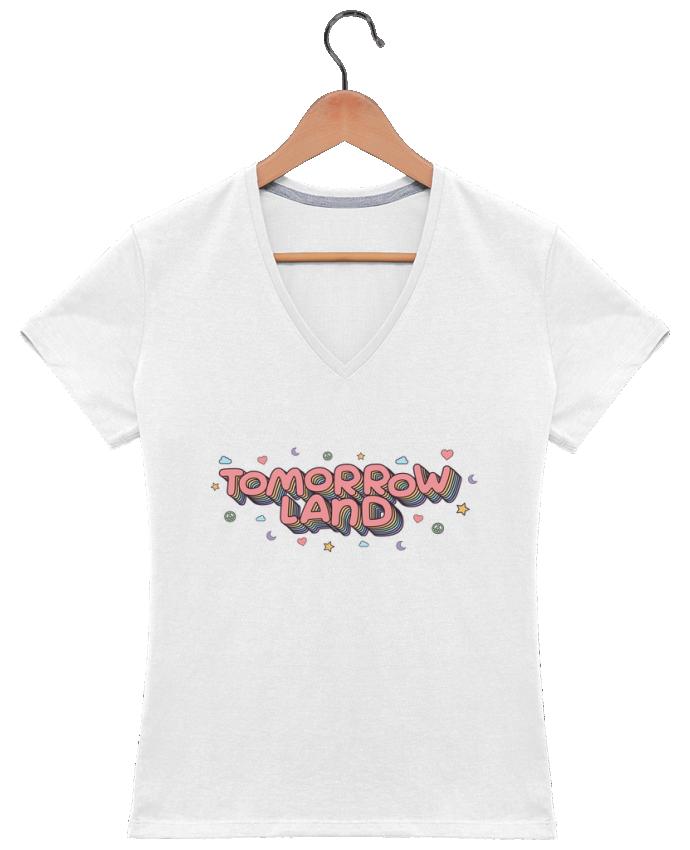 T-shirt Col V Femme 180 gr Tomorrowland par tunetoo