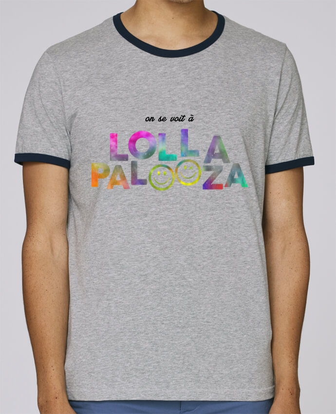 T-Shirt Ringer Contrasté Homme Stanley Holds On se voit à Lollapalooza pour femme par tunetoo