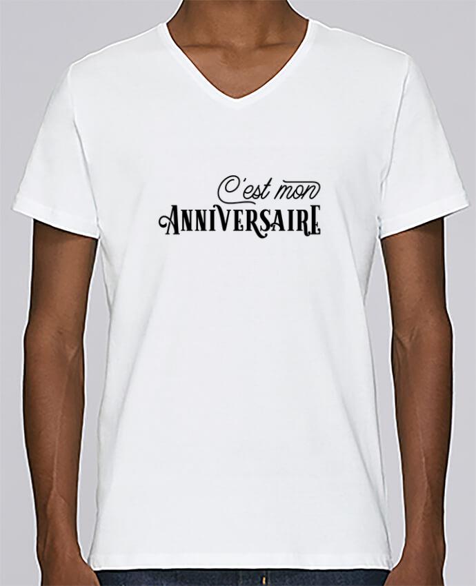 T Shirt Col V Homme Stanley Relaxes Cest Mon Anniversaire Cadeau Par Original T Shirt