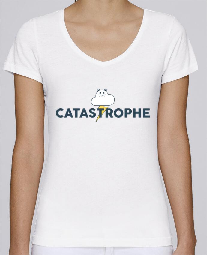 T-shirt Femme Col V Stella Chooses Catastrophe par tunetoo