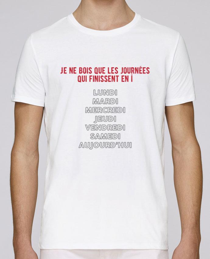 T-Shirt Col Rond Stanley Leads Je ne bois que les jours qui finissent en i par tunetoo