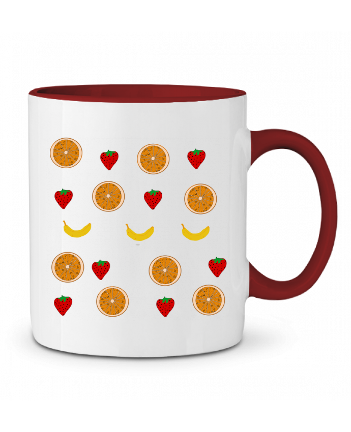 Mug en Céramique Bicolore Fruits Paalapaa