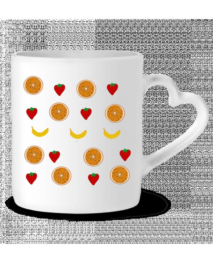 Mug Coeur Fruits par Paalapaa