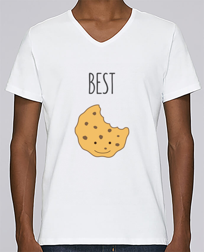 T-shirt Col V Homme Stanley Relaxes BFF - Cookies & Milk 1 par tunetoo