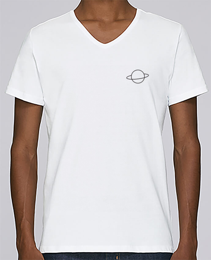T-shirt Col V Homme Stanley Relaxes Alien and Planet par tunetoo