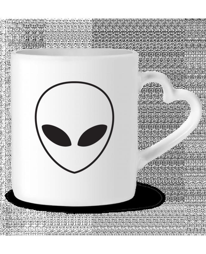 Mug Coeur Alien and Planet par tunetoo