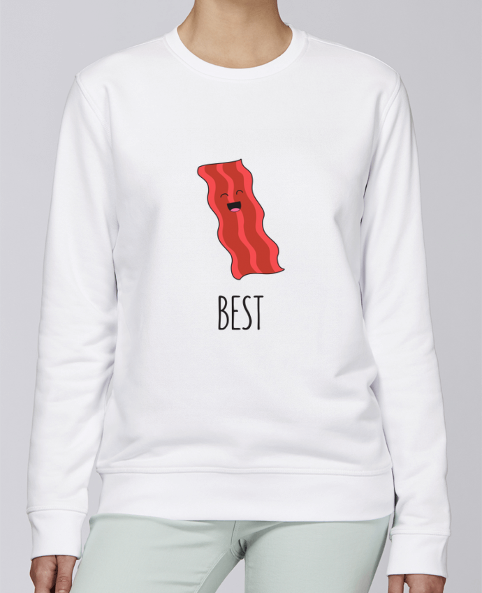 Sweat Col rond Unisexe Stanley Stella Rise BFF - Bacon and egg 1 par tunetoo