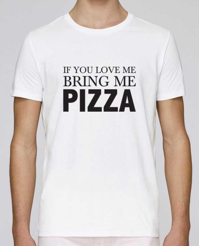 T-Shirt Col Rond Stanley Leads Bring me pizza par tunetoo