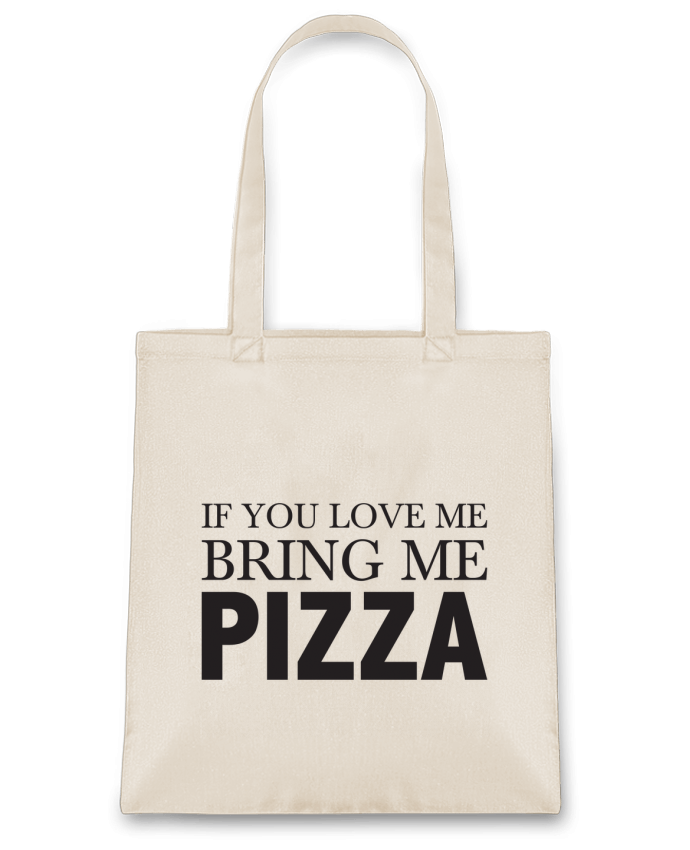 Sac en Toile Coton Bring me pizza par tunetoo