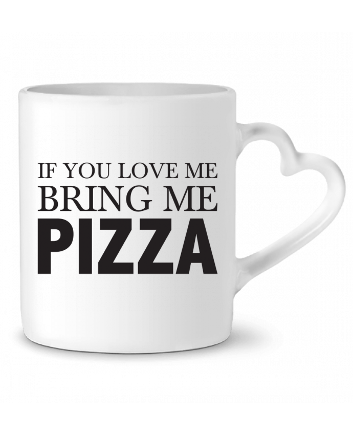 Mug Coeur Bring me pizza par tunetoo