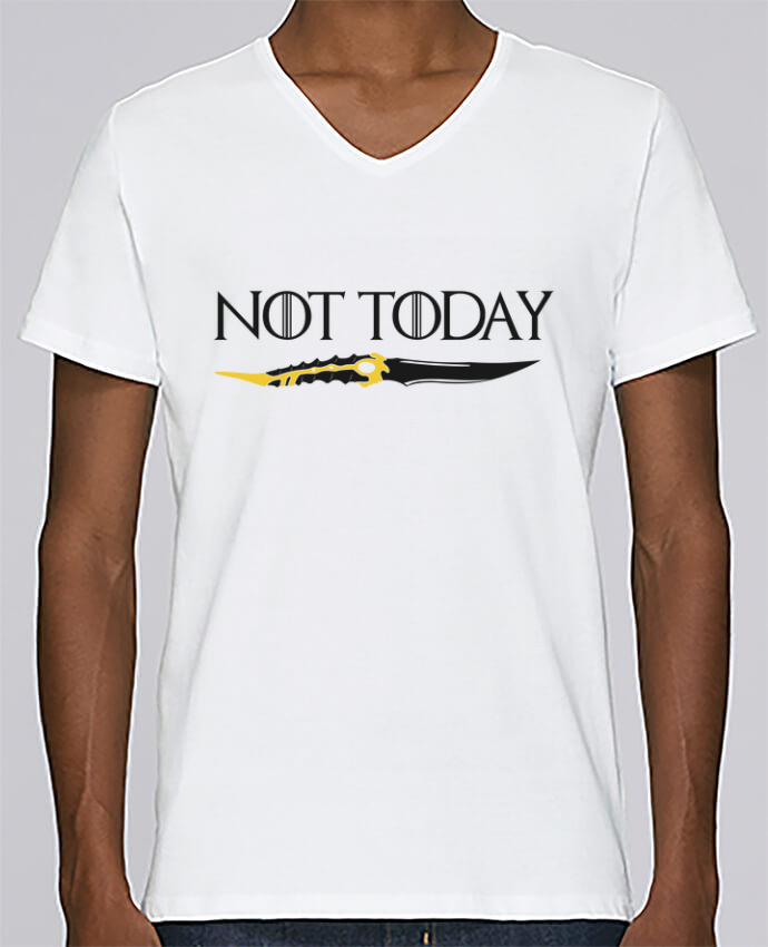 T-shirt Col V Homme Stanley Relaxes Not today - Arya Stark par tunetoo