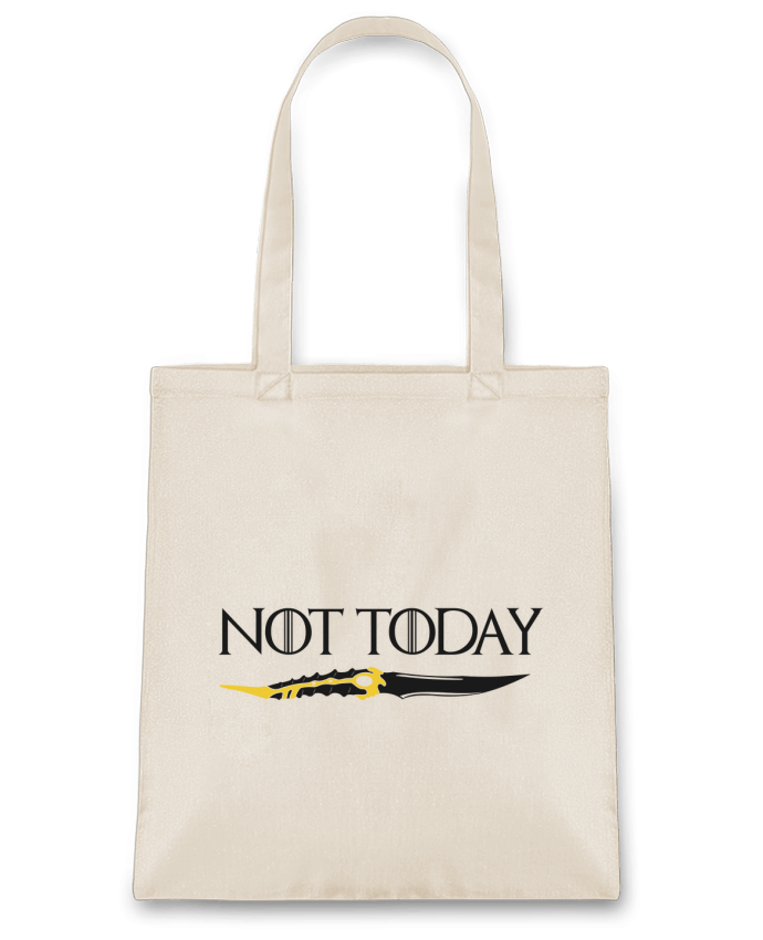 Sac en Toile Coton Not today - Arya Stark par tunetoo
