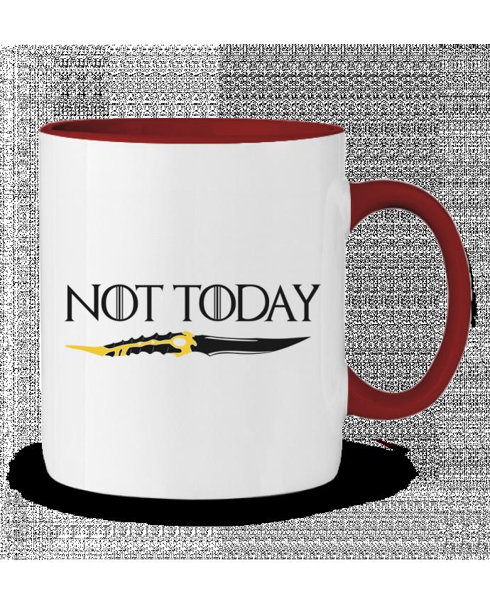 Mug en Céramique Bicolore Not today - Arya Stark tunetoo
