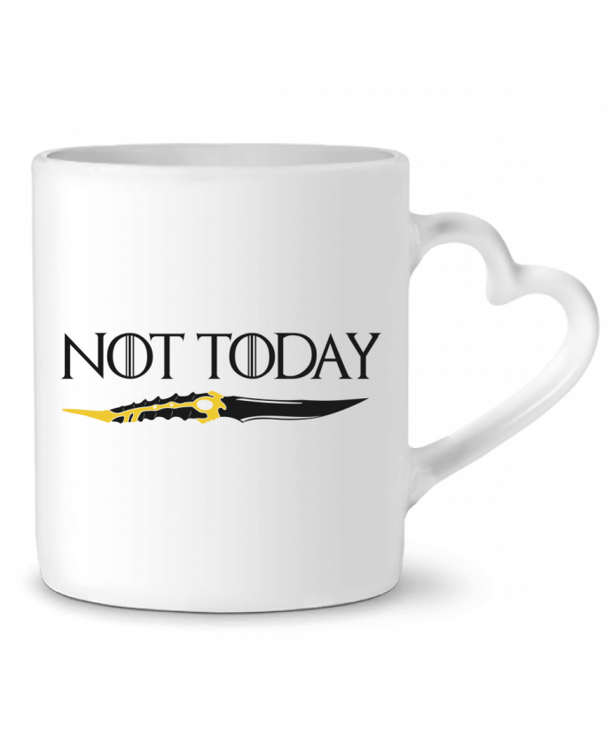 Mug Coeur Not today - Arya Stark par tunetoo