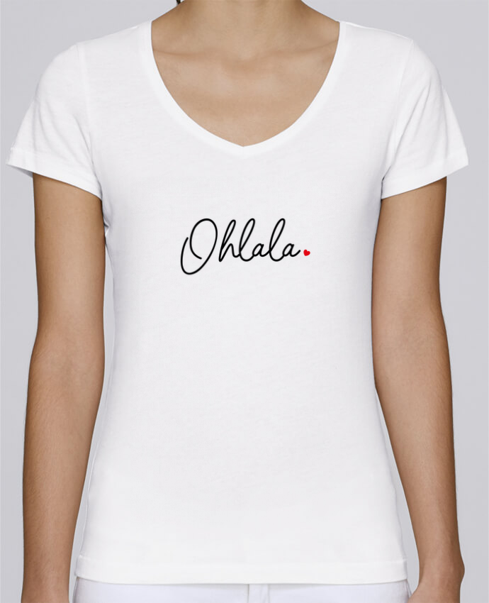 T-shirt Femme Col V Stella Chooses Ohlala par Nana