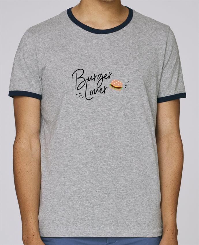 T-Shirt Ringer Contrasté Homme Stanley Holds Burger Lover pour femme par Nana
