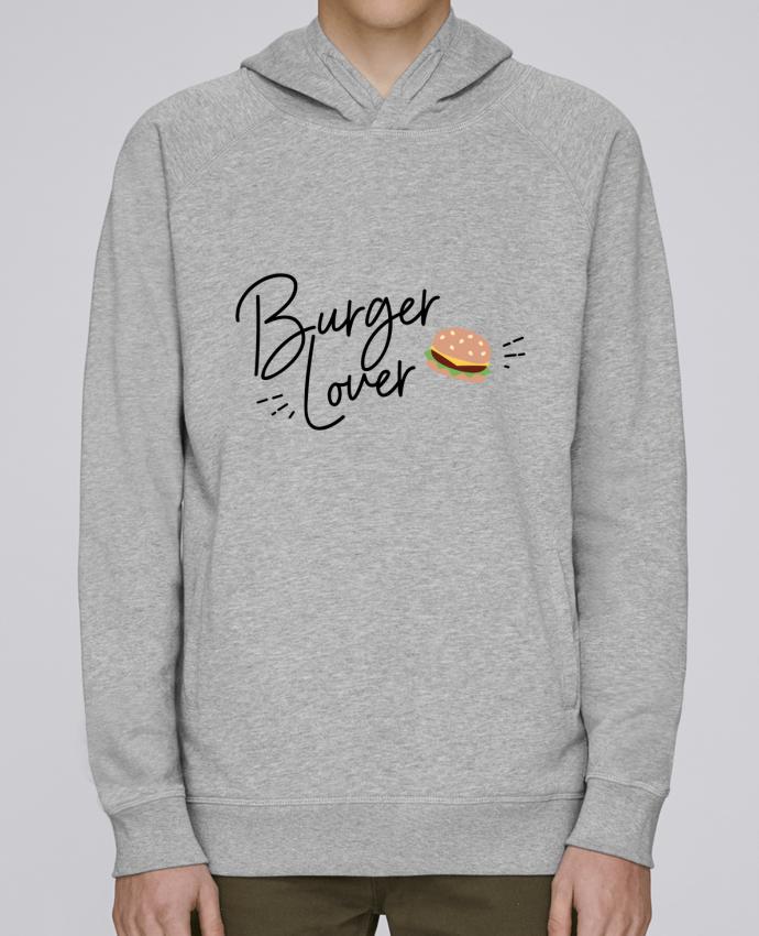 Sweat Capuche Homme Stanley Base Burger Lover par Nana